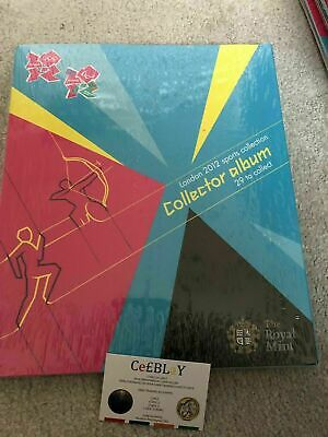 LONDON 2012 OLYMPIC GAMES ROYAL MINT 50p SPORTS ALBUM - NEAR MINT - NO COINS