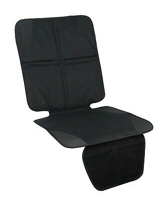 Car Seat Protector Cover for Children with Two Front Mesh Pockets