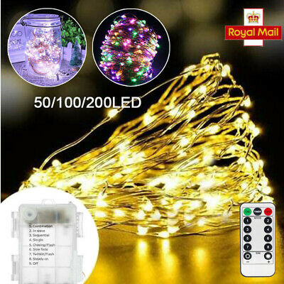 5/10/20M Firefly Micro Rice LED String Battery Operated Copper Wire Fairy Lights