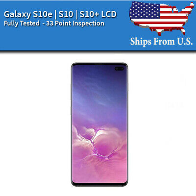 Samsung Galaxy: S10E | S10 | S10 Plus LCD Replacement Screen Digitizer Frame (A)