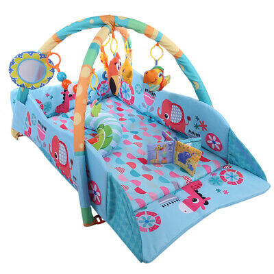 Baby Game Gym Rack Developing Activity Crawling Play Mat Four-sided Fence Carpet