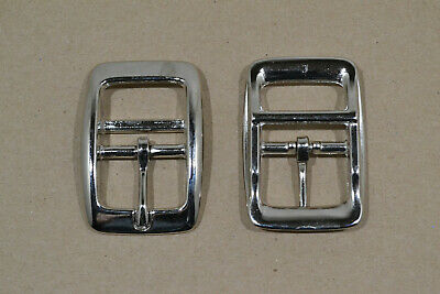 "Buckle - 1"" - Nickel Plated - Double Bar - Pack of 24 (D122)"