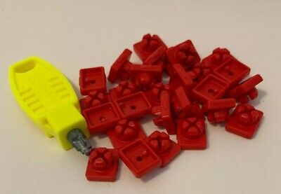 25 Playmobil Red System X Connectors