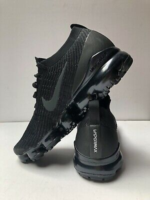 Mens Nike Air Vapormax Flyknit 3 Black/Anthracite-White Size 10.5