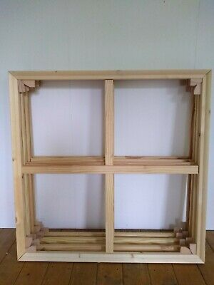 4 of 34inch/86cm canvas stretcher bar wooden frames (38mm thick)