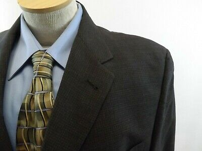 46 R AUSTIN REED Mens Blazer Jacket, DARK GRAY Suit Coat, 46R TWEED