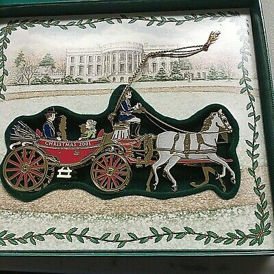 White House Historical Association Christmas 2001 Ornament President Carriage