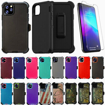 For Apple iPhone 11/11 Pro Max Case Cover w/(Belt Clip Fits Otterbox Defender)
