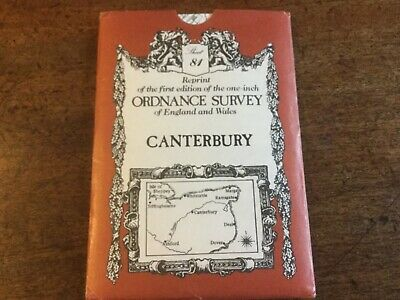 Reprint of 1st Ordnance Survey one-inch Map Canterbury Sheet 81