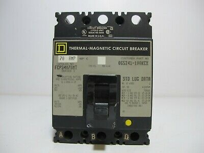 SQUARE D 3P 50A 480V THERMAL MAGNETIC CIRCUIT BREAKER FCP34050MT