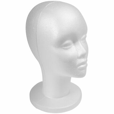 "SHANY Styrofoam Model Head - Wig Mannequin -  13"" Female Head with Stand - 1 PC"