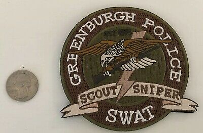 NY New York Greenburg Police  SWAT patch HOOK AND LOOP BACKING