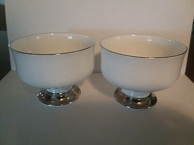 Set Of 2 Royal Victoria Fine Bone China England Candy/Peanut Dishes Est.1801