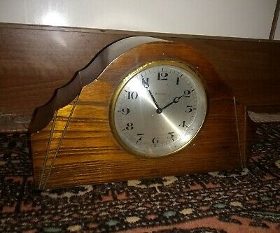 A Good Quality Antique 8 Day Mantel  Clock* Swiss Made* Makers Stamp*