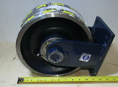 "RWM Rigid Plate Caster with Forged Steel Wheel 10"" X 4"""