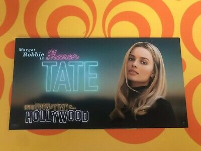 Once Upon A Time In Hollywood 1X CARD-ODEON-Sharon Tate-Quentin Tarantino 2019