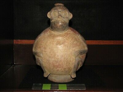 Pre Columbian, Pottery, *Tested, Costa Rican, Nicoya, Monkey Vessel, + 300 600