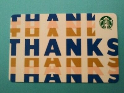 """Starbucks gift card 2019 """"THANKS""""  No Value No Swipes Recyclable Card"""