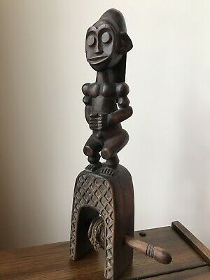 Authentic Antique Baule Wood Heddle Pulley Côte d'Ivoire African Art