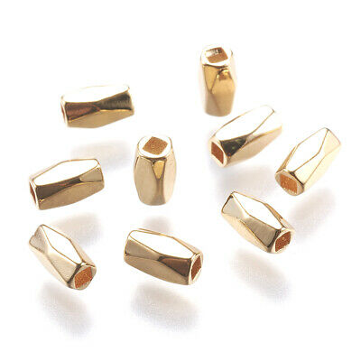 100 pcs 12x4.5mm Smooth Oval Melon Gold Plated Brass GP Beads