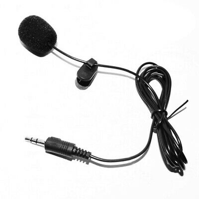3.5mm Clip-on Lapel Mini Lavalier Mic Microphone For Mobile Phone PC Recording ^