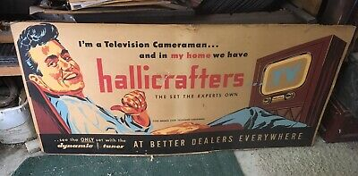 Vintage Hallicrafters TV Dealer Advertisement Showroom Sign Television