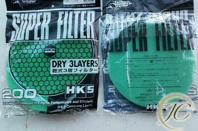 Green Super Filter Flow Replacement For Air Intake Filter Dry 3 Layer 200mm HK
