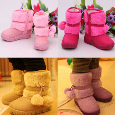 New Toddler Infant Kids Baby Children Boys Girls Solid Warm Outdoor Shoes Boots