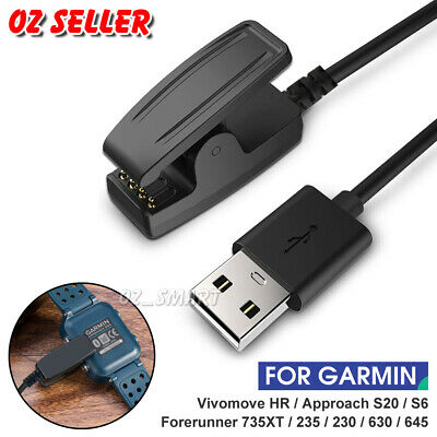USB Charging CABLE Clip Cord Garmin Vivomove HR /Approach S20 / G10 Forerunner