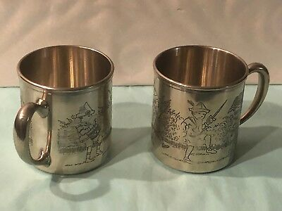 Two MMA- AMB  1991 Silver Plated Childrens On Parade Cups