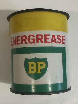 BP Energrease 1 Lb Vintage Grease Tin Can