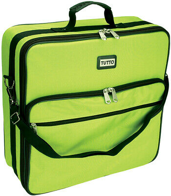 "TUTTO Embroidery Bag-19""X17""X6"" Lime"