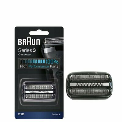 Electric Shaver Replacement Foil Cassette Cartridge For Braun 21b Series 3 Black