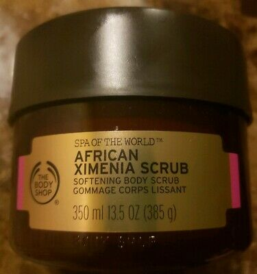 The Body Shop African Ximenia Scrub Softening Body Scrub 13.5 oz NEW