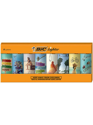 BIC Special Edition Vacation Series Lighters, Set of 8 Lighters