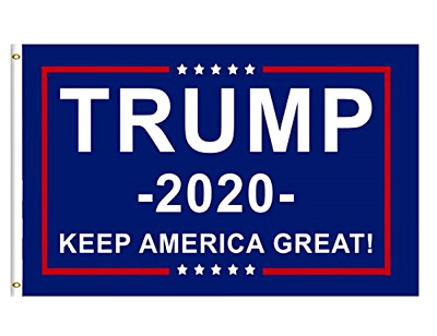 Donald Trump 2020 Flag FREE SHIP 3x5FT BLUE Keep America Great Flags  Banner SL