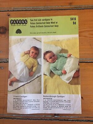Vintage Patons Publications Baby Cardigan knitting pattern