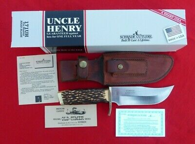 """Schrade USA 171UH Uncle Henry  """"Pro Hunter"""" Skinning Knife-Box/Papers."""
