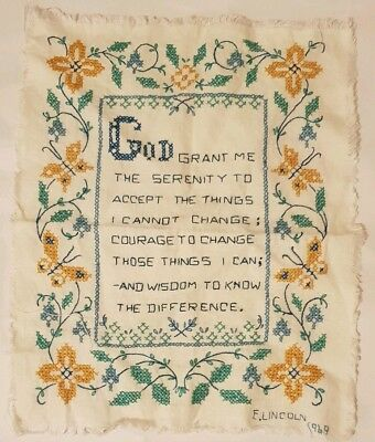 Handmade Embroidered Quote Cross Stitched Finished Decoration Wall Hanging