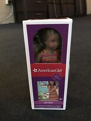 "AMERICAN GIRL Lea Clark Mini Doll 6"" w/mini book 2016 Doll of Year NIB"