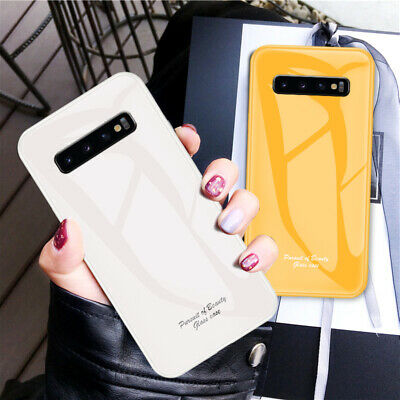 Luxury Marble Tempered Hard Glass Case Cover For Samsung Galaxy S10e S9 S8 Plus