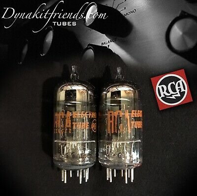RCA 7199 Black Plates O Getter Tubes MATCHED PAIR - DYNACO 7199 REPLACEMENT