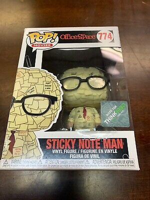 "Collectible Funko POP! Movie  Office Space #774 ""Sticky Note Man"" ThinkGeek"