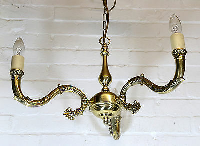 Ceiling Light A Vintage Brass Chandelier Antique French Empire Style VG Quality