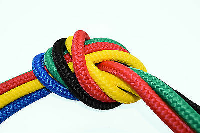 8mm BRAIDED POLYPROPYLENE POLY ROPE CORD YACHT BOAT SAILING CLIMBING