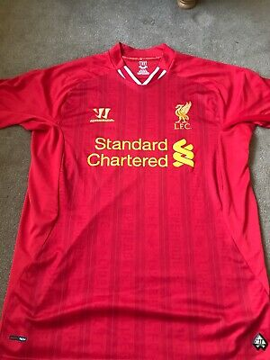 Liverpool FC LFC Home Shirt Warrior 13/14 Mens Size Large