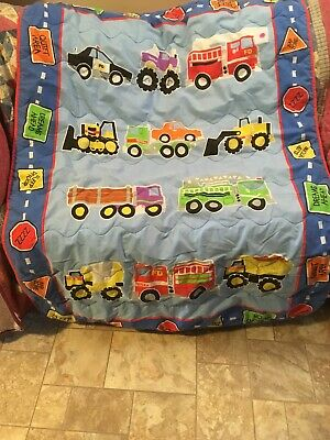 """TONKA Boys Throw Blanket 53"""" By 41"""" Great Condition"""
