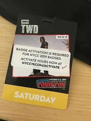 NYCC 2019 SATURDAY Badge New York Comic Con Ready to Ship ACTIVATED