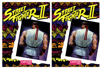 Street Fighter 2 Arcade Side Art Cabinet Graphics Stickers Reproduction