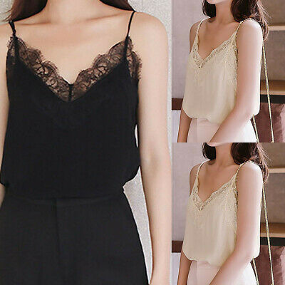 Womens Fashion Summer Ladies Casual Lace Sleeveless Vest Shirt Tank Blouse Tops